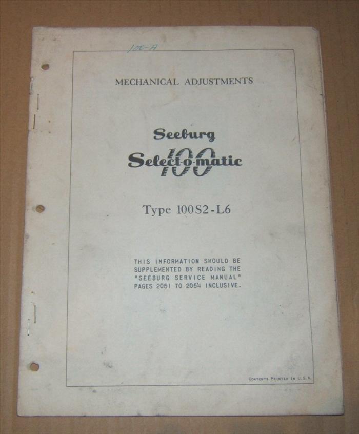 Seeburg Select-O-Matic Mechanism 100S2-L6
