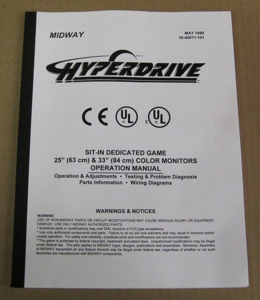 hyperdrive arcade game manual for sale quarterarcade com rh quarterarcade com