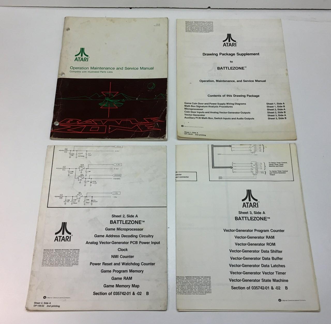 Original Atari Battlezone Arcade Game Manual For Sale Price Wiring Diagram