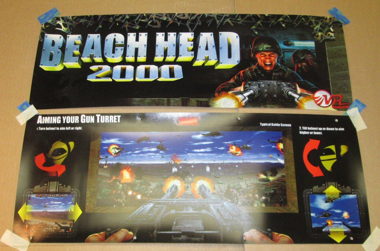 Beach Head 2000 Marquee For Sale Quarterarcade Com