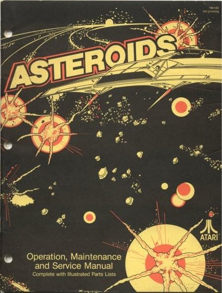 Original Atari Asteroids Arcade Game Manual for sale ...