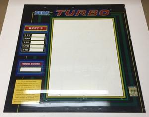 Sega Turbo Upright Arcade Game Monitor Bezel For Sale