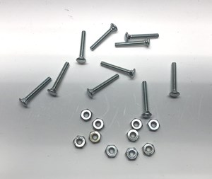 "Picture of #6-32 x 1"" Silver Carriage Bolt (10 pack)"