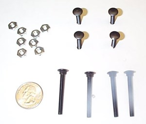 "Picture of #8-32 x 1-1/2"" Black Carriage Bolt (10 pack)"